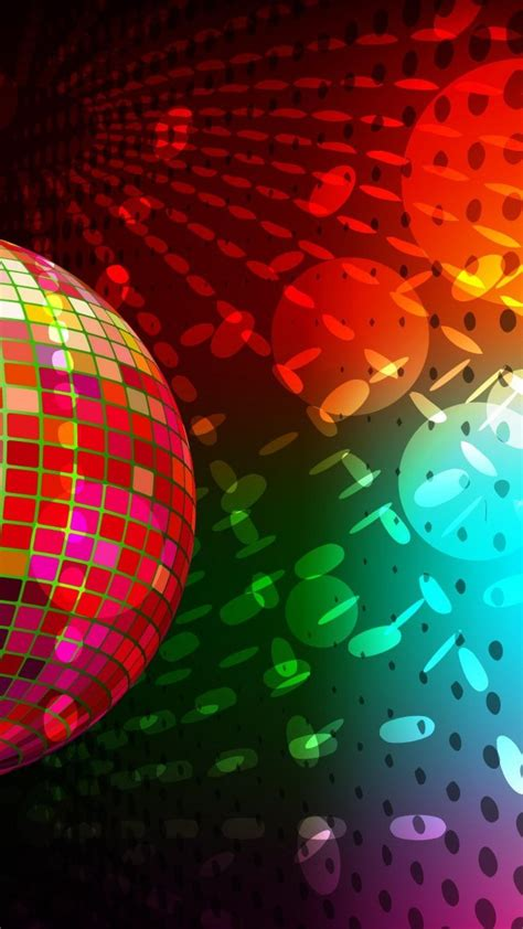 disco circles colors lights  wallpaper