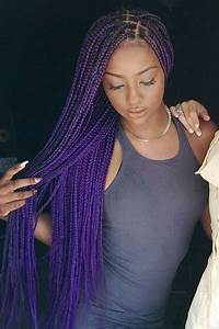 9 Perfect Examples Of Purple Box Braids Hairstyles Out