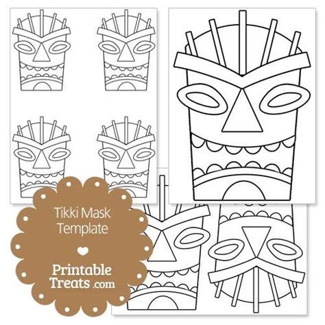 tiki totem templates printable tiki mask template from printabletreats