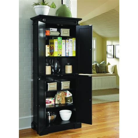 Pantry Shelves Home Depot Home Styles Americana Black Food Pantry 5004 694 The