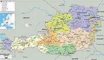 Political Map of Austria - Ezilon Maps