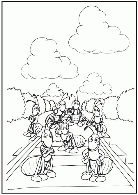picnic  ants coloring pages coloring home