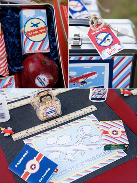 pilot airplane inspired birthday party ideas