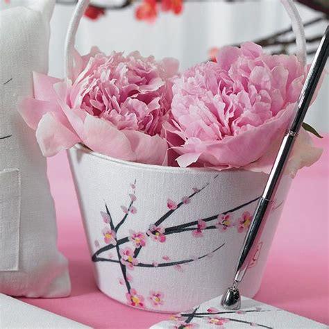cherry blossom flower girl basket weddingstar