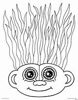 Coloring Crazy Hair Pages Troll Haircut Wacky Doll Drawing Printable Template Trolls Adult Faces Characters Creatures Getcolorings Poppy Adults Templates sketch template