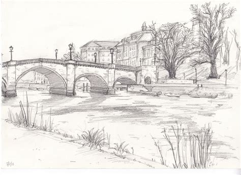landscaping sketches richmond bridge drawing from life bridge drawing landscape sketch and drawings
