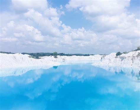 camoi aek biru keindahan wisata  hits  pulau bangka