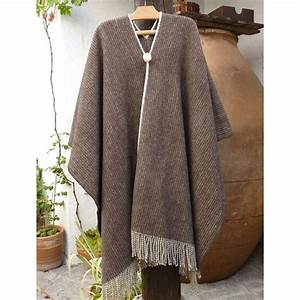 Traditional poncho merino wool Spanish country folk