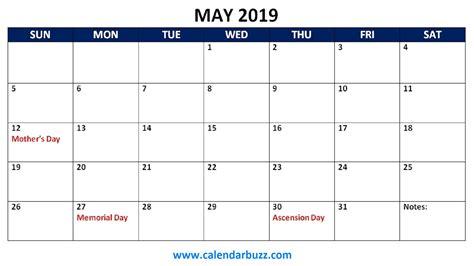 Free 2019 Holidays Printable Calendar Monthly Templates