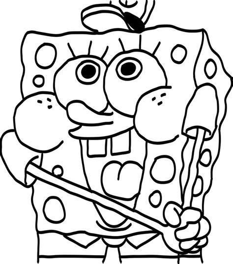 baby spongebob printable coloring page  coloring pages