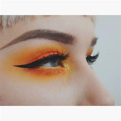 orange eye makeup ideas  pinterest orange