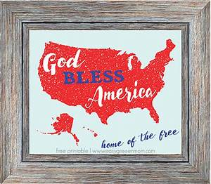 God, Bless, America, Home, Of, The, Free