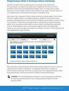 Dell Up3214q Display Manager  U2013 Podr U0119cznik U U017cytkownika User