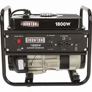 Ironton Portable Generator  U2014 1800 Surge Watts  1400 Rated