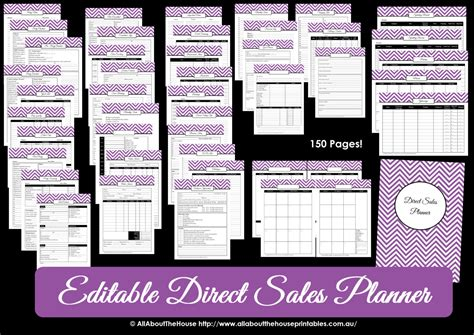 printable direct sales planner editable  mary kay