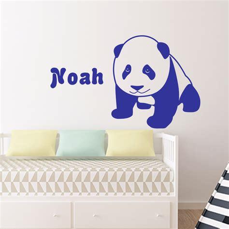 stickers muraux prenom personnalise sticker pr 233 nom personnalis 233 le panda texte personnalisable pr 233 nom ambiance sticker
