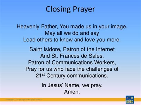 cloaing prayer for christmas progeamme catholic opening closing prayers for meetings