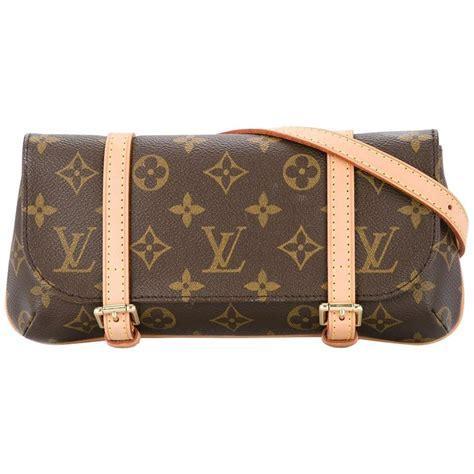 louis vuitton monogram leather double buckle bum fanny pack waist belt bag  sale  stdibs
