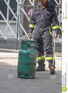 Fire Extinguisher Demonstration Stock Image ...