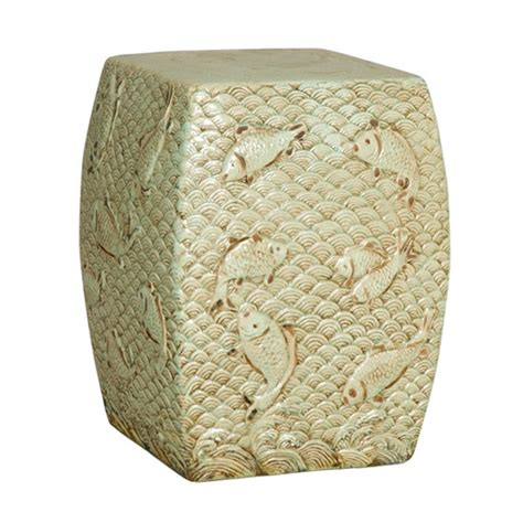 outdoor ceramic swimming fish garden stool many colors