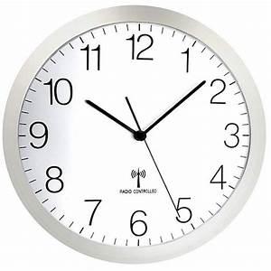 Horloge Murale Silencieuse : horloge murale grise radio pilot e et silencieuse ~ Melissatoandfro.com Idées de Décoration