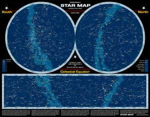 Sky Star Chart Constellations Map