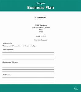 business plan template proposal sample printable With free buisness plan template