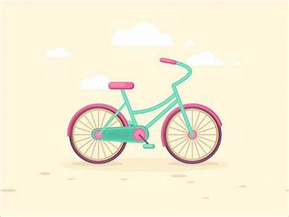 Bicycle Animated Flat Bike Animation Gifs Dribbble