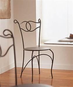Chaise En Fer Forgé : mobilier de jardin chaise si ge banc banquette en fer ~ Dode.kayakingforconservation.com Idées de Décoration