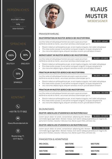 Lebenslauf Design Vorlage by Premium Bewerbungsmuster 3 Lebenslaufdesigns De