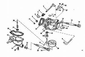 Evinrude Carburetor Group Parts For 1969 4hp 4906b Outboard Motor