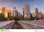 Los Angeles, California, Orizzonte Di U.S.A. Fotografia ...