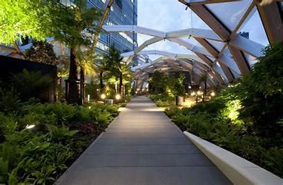 Roof Garden Crossrail Place Station Landscape Architecture