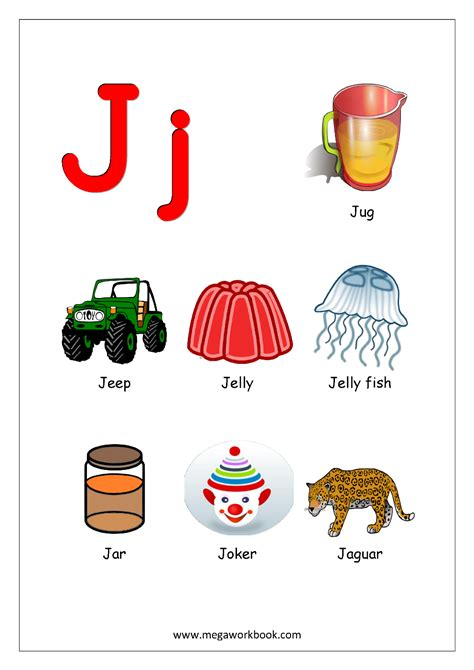 words starting with the letter j free printable worksheets alphabet reading 96002