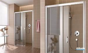 paroi de douche coulissante rothalux atea espace aubade With porte de douche coulissante avec deco salle de bain rouge