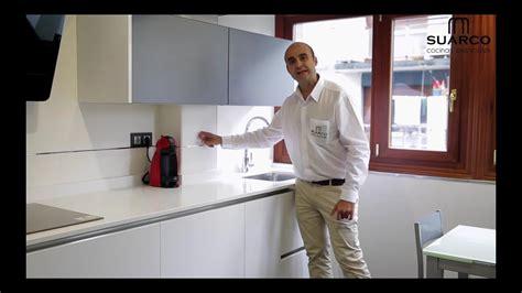 video cocinas pequenas modernas blancas   encimera