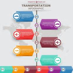 infographic design transportation vector infographic labels design vector free