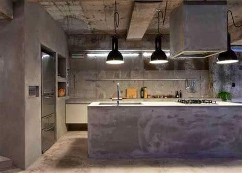 cocinas en cemento pulido en  casa concrete