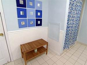 Weekend projects install wainscoting hgtv for Installing wainscoting in bathroom