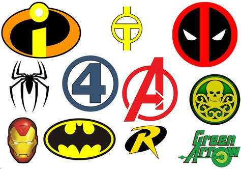 Super Hero Logos / Symbols Iron On T Shirt Transfer Can Be