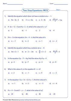 linear equation worksheets images worksheets