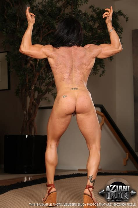 Muscle Milf Strips And Toys Her Pierced Shaved Snatch On