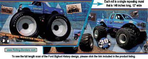 bigfoot monster truck history rolling borders com automotive wallpaper borders