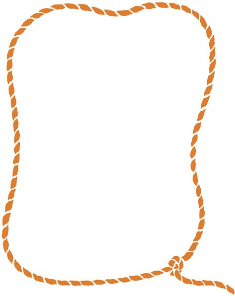 Rope Border Clipart Western Rope Frame