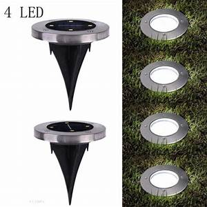 Led In Decke : 4 led solar powered led buried inground recessed lights garden outdoor deck path ebay ~ Markanthonyermac.com Haus und Dekorationen