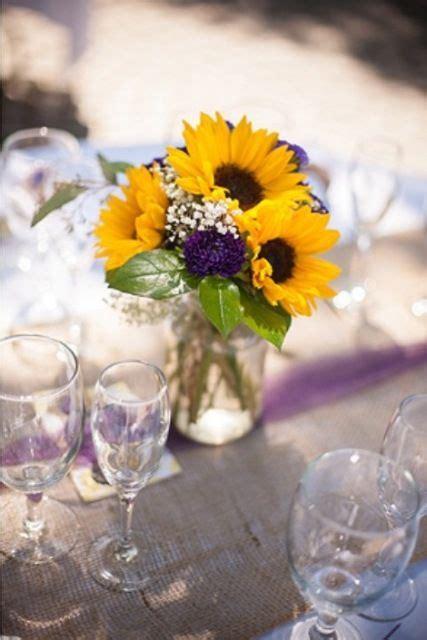 fall wedding flowers sunflowers  babies breath