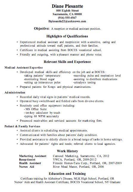 Chronological Resume For Receptionist by Resume Sle Receptionist Or Assistant