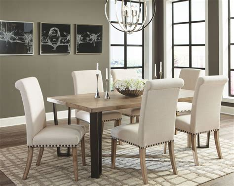 A rustic dining table can be the perfect finish for a minimalist dining room. Modern Vintage Rustic Pine Dining Room Set, 107431, Coaster Furniture
