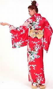 Red Kimono Dress - Kimono & Yukata Robes - aFashion