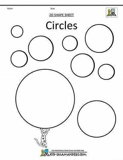 Circles Shapes Coloring Clipart Math Circle Shape